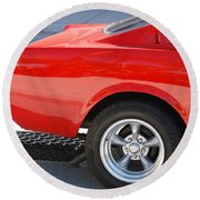 Fastback Mustang Round Beach Towel