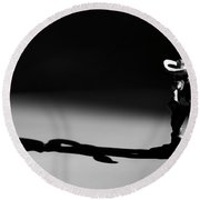 Faster As His Shadow Round Beach Towel