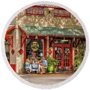 Fat Hen Grocery - New Orleans Round Beach Towel