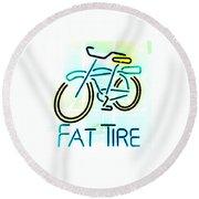 Fat Tire Round Beach Towel