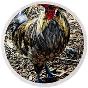 Fat Tuesday - Mardi Gras Chicken Round Beach Towel