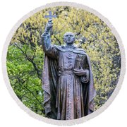 Father Marquette Round Beach Towel
