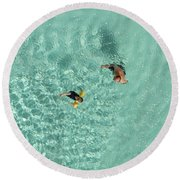 Pool Day  Round Beach Towel