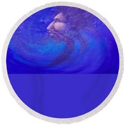 Father Time Round Beach Towel