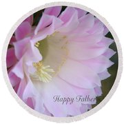 Fathers Day Cactus Round Beach Towel