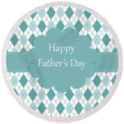 Father's Day Round Beach Towel