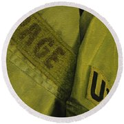 Fatigues Round Beach Towel
