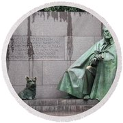 Fdr Memorial - Neither New Nor Order Round Beach Towel