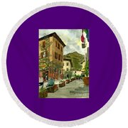 Fdr Piazza Regello Round Beach Towel