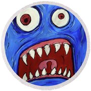 Fear-potentiated Startle Round Beach Towel
