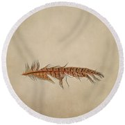 Feather 2 Round Beach Towel