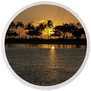 Feather Dusters Round Beach Towel