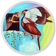 Feather Touch Round Beach Towel