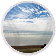 Featherclouds Round Beach Towel