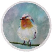 Feathered Friends First In Series Round Beach Towel