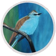 Feathered Friends Second In Series Round Beach Towel