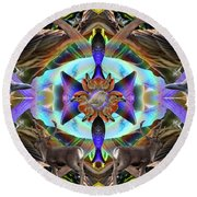 Feathered Nature Round Beach Towel