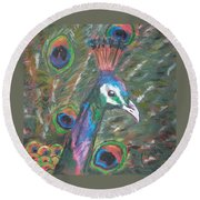 Feathered Splendor Round Beach Towel