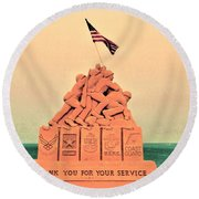 February 1945 Round Beach Towel