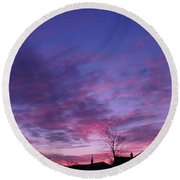 February Clouds Round Beach Towel