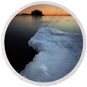 February Thaw  Round Beach Towel