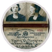 Federal Prohibition Agent Daisy Simpson 1921 Round Beach Towel