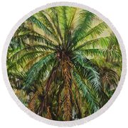 Federico Palm Round Beach Towel