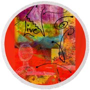 Feeling Alone And Invisible Round Beach Towel