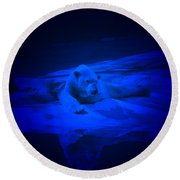 Feeling Blue Round Beach Towel