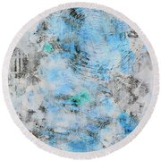 Feeling Deja Blue Round Beach Towel