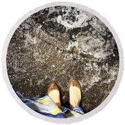 Feet Around The World #6 Round Beach Towel