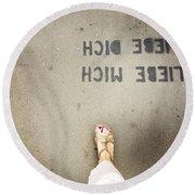 Feet Around The World #8 Round Beach Towel