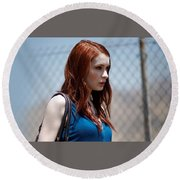 Felicia Day Round Beach Towel