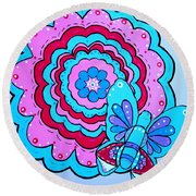 Felicity's Flower Round Beach Towel