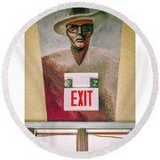 Fellini's Exit - Nola Round Beach Towel