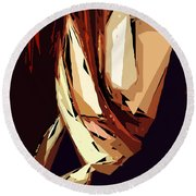 Female Expressions Xiii Round Beach Towel