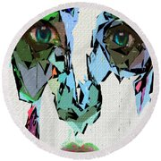 Female Expressions Xvii Round Beach Towel