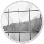 Fence Against Nature Round Beach Towel