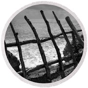 Fence Round Beach Towel