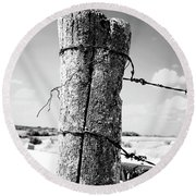 Fence Post Round Beach Towel