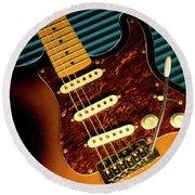 Fender Guitar Round Beach Towel