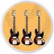 Fender Jazzbass 74 Round Beach Towel