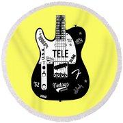 Fender Telecaster 52 Round Beach Towel