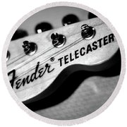 Fender Telecaster Round Beach Towel by Mark Rogan