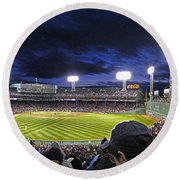 Fenway Night Round Beach Towel