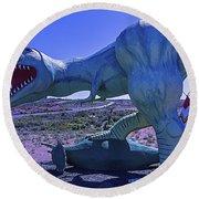 Ferious Dinosaur Trex Round Beach Towel