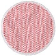 Fermat Spiral Pattern Effect Pattern Red Round Beach Towel