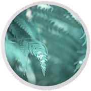 Fern Leaves Abstract 4. Nature In Alien Skin Round Beach Towel