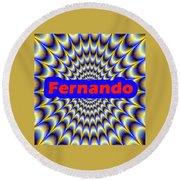 Fernando Round Beach Towel