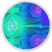 Ferns 2j Hotwax 3 Fractal Plus Round Beach Towel